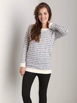 Nightcap Cheyenne Sweater Dress Grey White