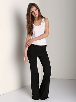 Nightcap Fleece Foldover Flare Pant Black