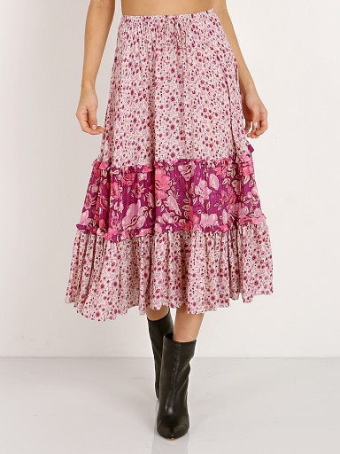 Spell & The Gypsy Winona Midi Skirt Berry