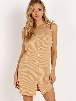 Jen's Pirate Booty Mala Mini Dress Mustard Pinstripe