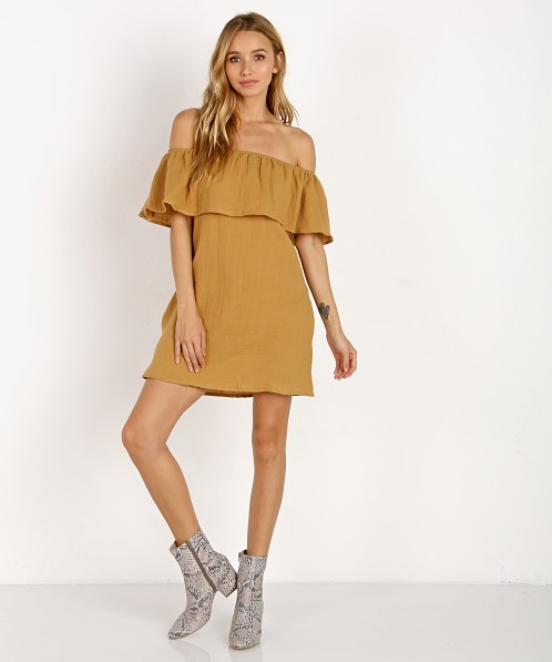 Jen's Pirate Booty Double Gauze Senorita Dress Mustard