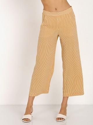 Jen's Pirate Booty Carom Crop Pant Tumeric/White Stripe