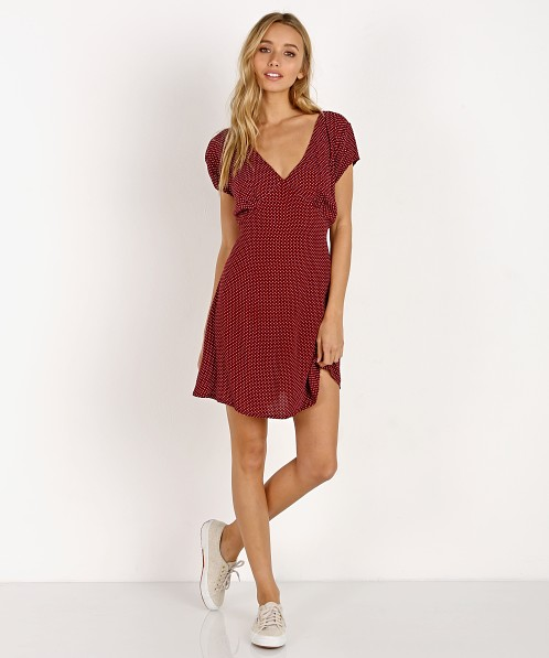 Zulu & Zephyr Wine Dress Polka Dot