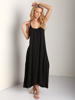 9seed Seychelles Low Back Maxi Dress Black Gauze