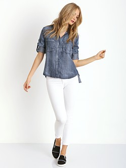 Bella Dahl Split Back Button Down Ice Wash