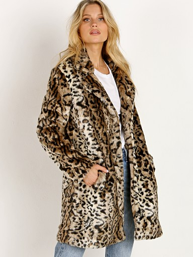 BB Dakota Bradshaw Faux Fur Coat Leopard