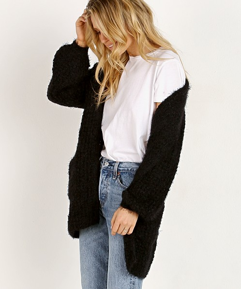 BB Dakota I've Been Busy Cardigan Black