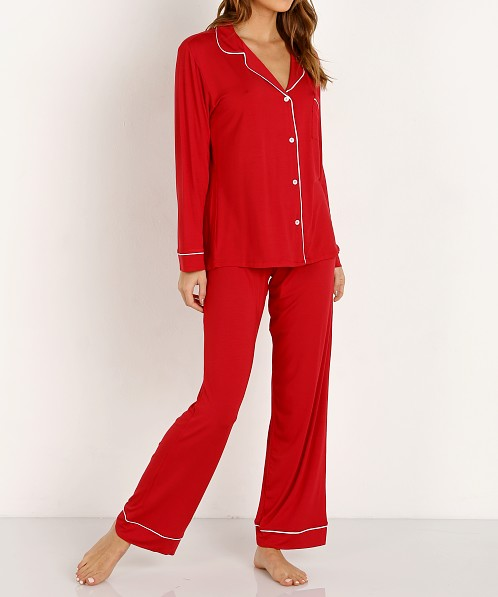 Eberjey Gisele Long Pj Set Boxed Cherry/Ivory