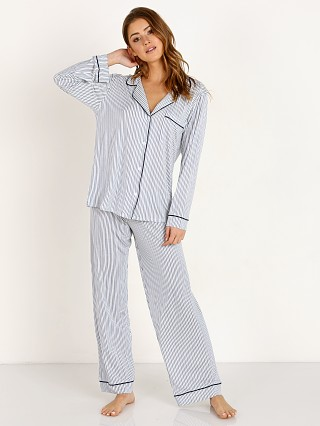 Eberjey Sleep Chic Long Pj Set Boxed Nordic Stripes/Northern