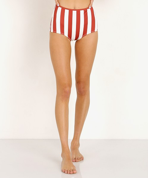 Solid & Striped The Brigitte Bikini Bottom Raid Cream Stripe