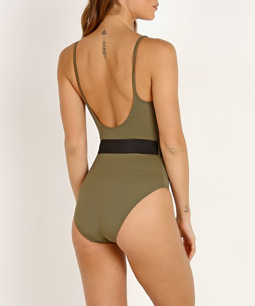 Solid & Striped The Nina Belt One Piece Olive