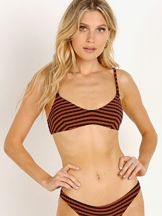 Solid & Striped The Rachel Bikini Top Raid Black Rib