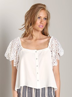 Stone Cold Fox San Jose Blouse Ivory