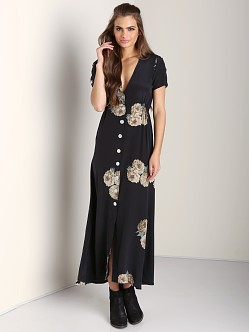 Stone Cold Fox Dharma Dress Dharma Print Black/Rose
