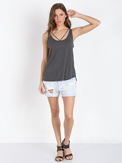 LNA Clothing Strap Tank Off Black