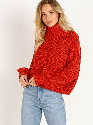 Rue Stiic Bungalow Sweater Knit Red Mix