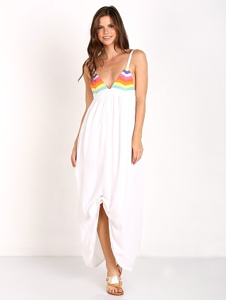 Mara Hoffman Prismactic Tie Maxi Dress Rainbow