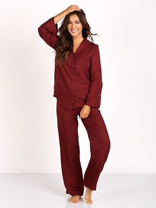 Only Hearts Jacquard Silk Pajama Wine