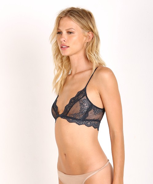 Only Hearts So Fine with Lace Bralette Midnight
