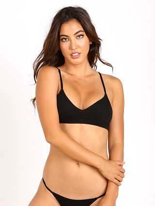 Only Hearts So Fine V Neck Bralette Black