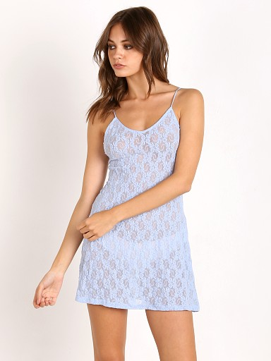 Only Hearts Stretch Lace Chemise Blue Bell