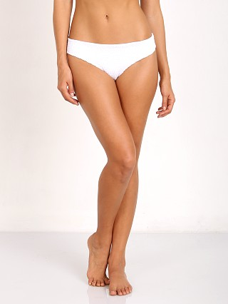 Complete the look: Indah Zebra Medium Coverage Gemma Smocked Bottom White