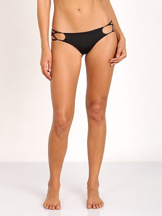 Indah Sasa Medium Coverage Criss Cross Side Bottom Black
