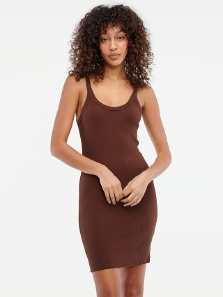 Model in chocolate LACAUSA Maya Slip