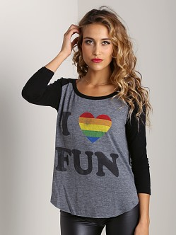 Rebel Yell I Love Fun Baseball Tee Black