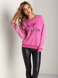 Rebel Yell C'est La Vie! 70s Sweatshirt Bubblegum