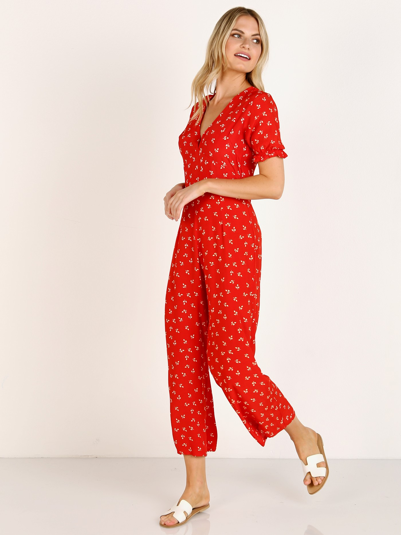 0826f39986d6 Faithfull the Brand Mallory Jumpsuit Jeanne Print FF1340-JPC - Free  Shipping at Largo Drive