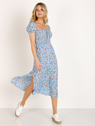 Faithfull the Brand Castilo Midi Dress Jasmine Floral Print