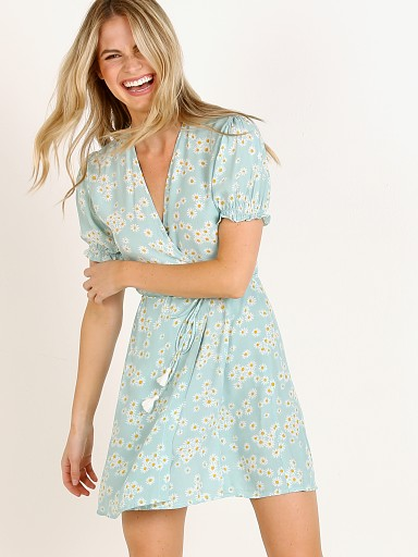Faithfull the Brand Mira Wrap Dress Zhoe Floral Print