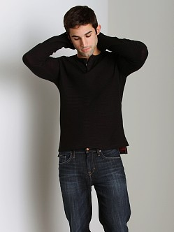 Joe's Jeans Juson Herringbone Long Sleeve Henley Black