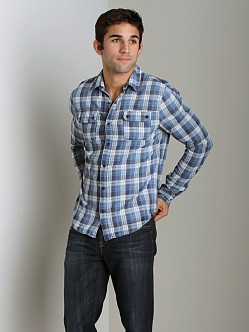 Joe's Jeans Relax Double Flap Pocket Shirt Navy