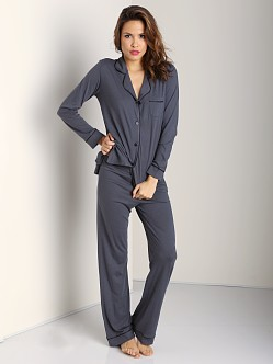 Cosabella Bella Long PJ Set Anthracite/Black