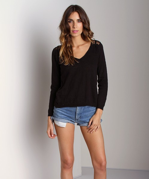 4Our Dreamers Crochet Sweater Black