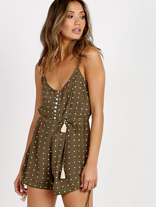 Faithfull the Brand Daybreak Playsuit Stefano Khaki