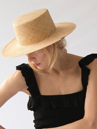 KIN Reese Natural Adjustable Straw Hat