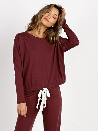 Eberjey Heather Slouchy Tee Vineyard Wine