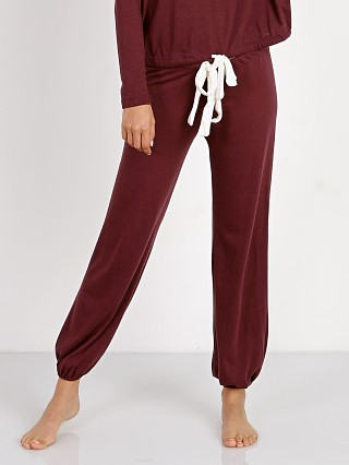 Eberjey Heather Cropped Pant Vineyard Wine