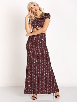 Novella Royale Jean Crop Top + Skirt Set Plum Hudson