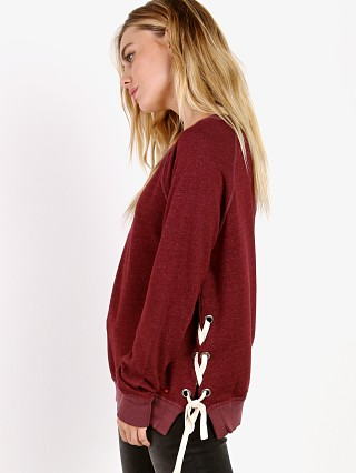 Model in merlot n: PHILANTHROPY Felix Sweatshirt