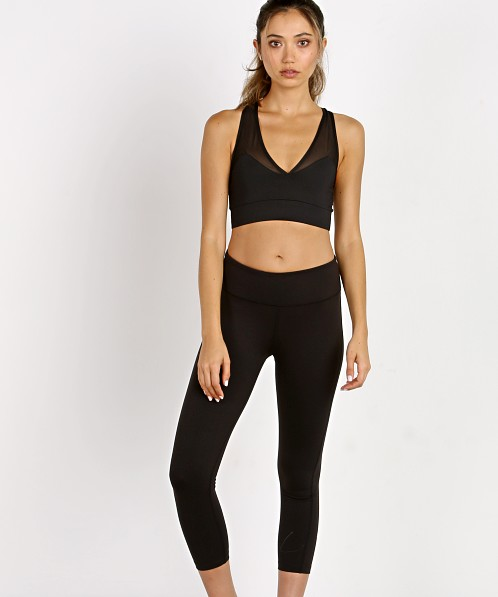 Splits59 Studio Stride Mid Rise Capri Black