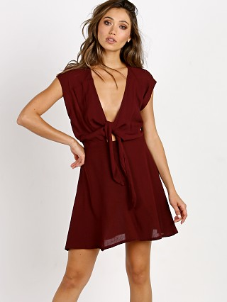 Cleobella Axel Short Dress Burgundy