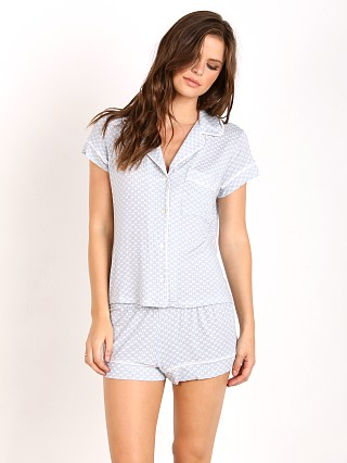 Eberjey Cabana Girl Short Sleeve PJ Set Chambray