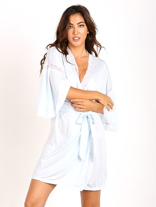 Eberjey I Do Robe White/Bridal Blue