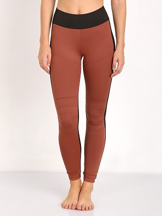Koral Moto Mid Rise Leggings Sandstone with Black