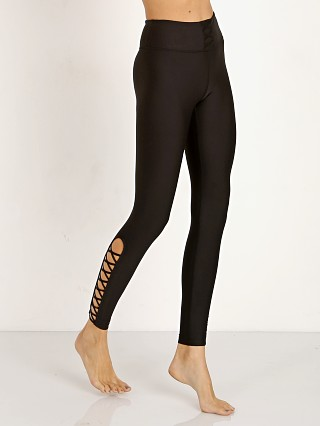 All Fenix Lace Up Full Length Legging Black