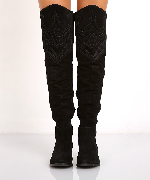 Matisse Understated Leather Bolo Thigh High Boot